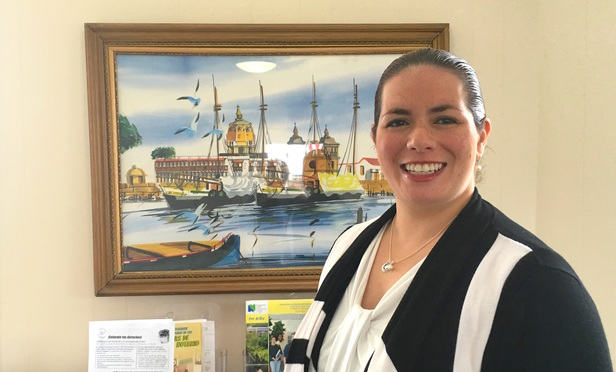 Attorney Lisa Rivas of Cramer & Anderson recently received the Above and Beyond Award for her efforts. Rivas has been a volunteer at the Hispanic Center of Greater Danbury, where she teaches a popular citizenship course.