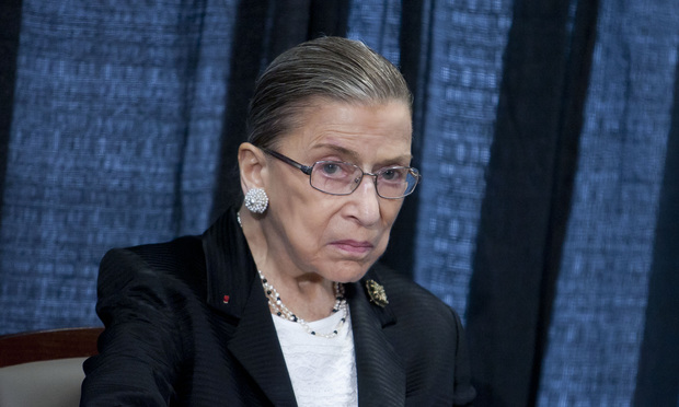 "Ginsburg Says Colleagues Have ""Blind Spot"" on Women's Issues"