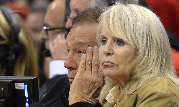 Los Angeles Clippers owner Donald Sterling, left, and his wife Shelly, right.