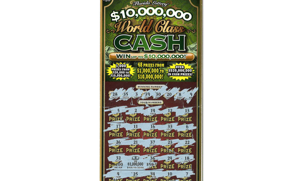 The $10 Million World Class Cash game ticket.