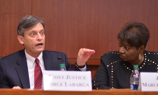 Chief Justice Jorge Labarga and Judge Marcia Cooke