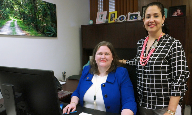 Left to right: Laura Reich and Clarissa Rodriguez, partners at Reich Rodriguez.