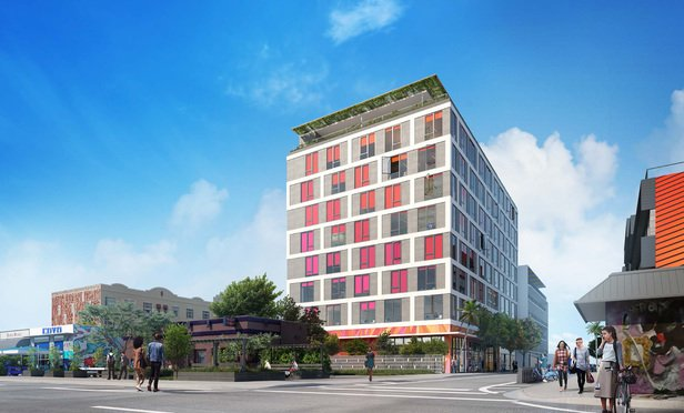 Rendering of the office tower to be built in Miami's Wynwood neighborhood.