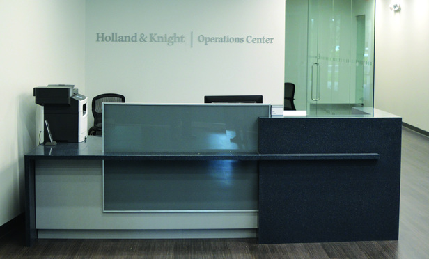Holland & Knight's new operations center in Tampa.