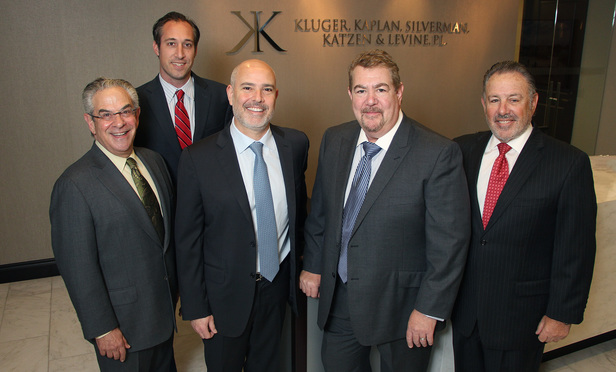 From left, Alan Kluger, Marko Cerenko, Todd Levine, Steve Silverman and Abbey Kaplan.
