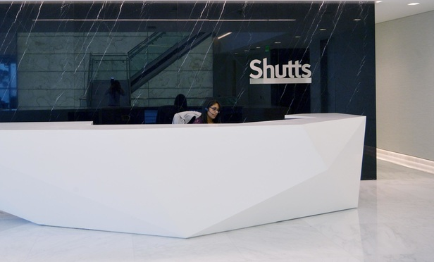 Reception area of the new Shutts & Bowen office at 200 S. Biscayne Blvd., Miami.
