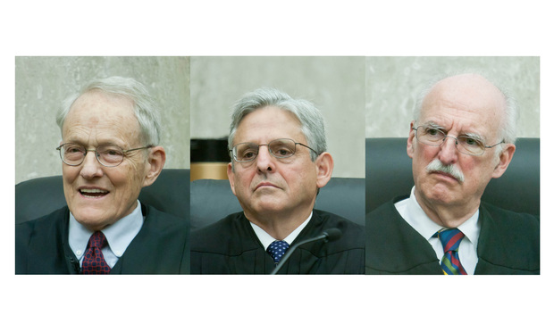 Stephen Williams, Merrick Garland and Douglas Ginsburg of the U.S. Court of Appeals for the D.C. Circuit.