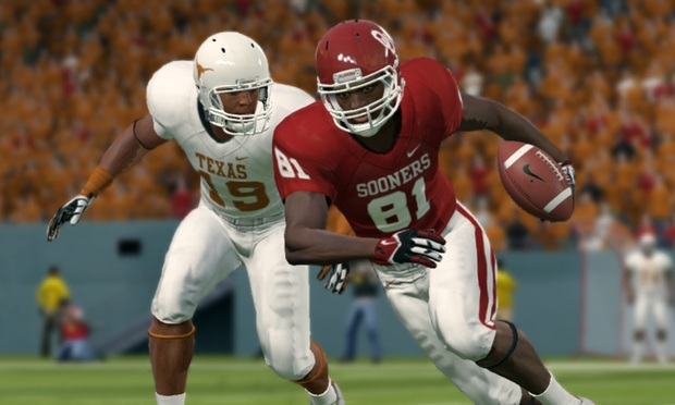 A scene from Electronic Arts' video game NCAA Football14. The NCAA is suing EA and Atlanta-based Collegiate Licensing Co. in Fulton Superior Court.