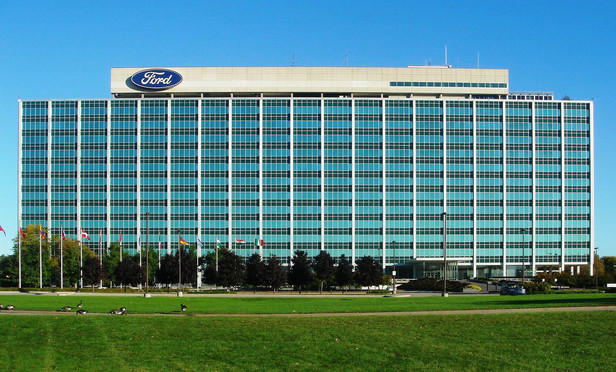 Ford Motor Company Headquarters in Dearborn, Michigan.