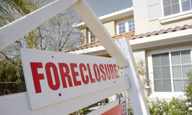 Another house falling to the foreclosure market