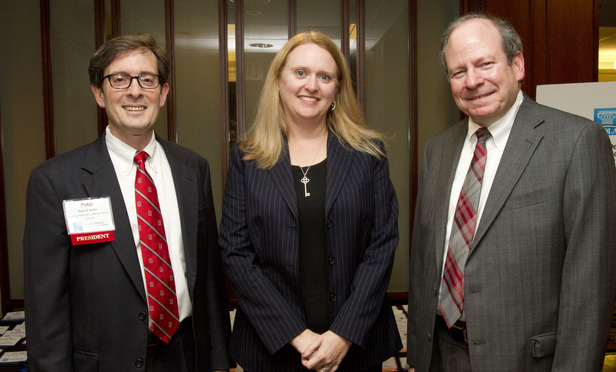 L-R Peter Muller, Judge Leigh May and Judge Mark Cohen.