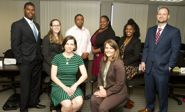 Back Row L-R Christopher Bruce, JoAnna Smith, Charles Wardlaw, Tamorra Boyd, Alicia Mack and Gregory Clement. Front row seated L-R Stephanie Everett and Sarah Babcock. Not Pictured: Candice Sneed.