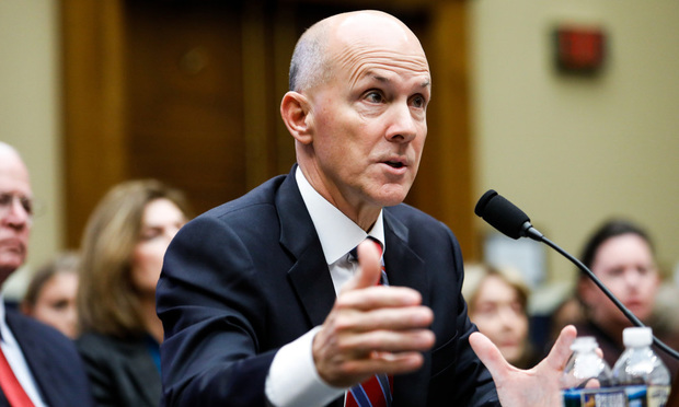 Former Equifax CEO Richard Smith testifies Tuesday before the Energy & Banking Committee.