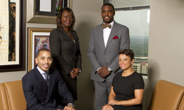 L-R Omari J. Crawford, Candace Banks, Peter A. Brogdon II and Mecca S. Anderson. The Cochran Firm, Atlanta.