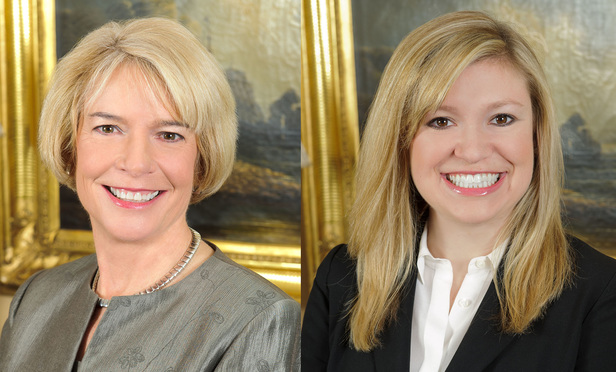 Cynthia Wright, left, and Amy Brooke Saul, right, of Boyd Collar Nolen & Tuggle.