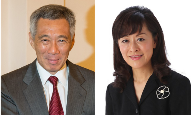 Singapore Prime Minister Lee Hsien Loong, left, and Suet Fern Lee.