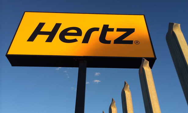 Hertz rental sign