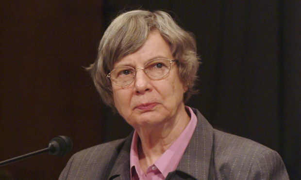 Judge Jane R. Roth, Third Circuit Judge and Chair of the Committee on Facilities and Security for the Judicial Conference of the United States testifies about protecting judges before the Senate Judiciary Committee. Credit: Roberto Westbrook. 5/18/05