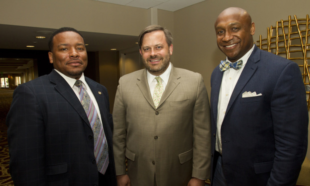 Left to Right, Francys Johnson, Robert Highsmith & Mawuli Mel Davis were panelists discussing Judicial Diversity in the 21st Century,at the 2014 State Bar of Georgia Annual Meeting.