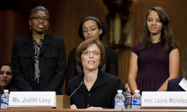 Judith Levy, introducing her family during her confirmation hearing before the Senate Judiciary Committee to be United States District Judge for the Eastern District of Michigan.