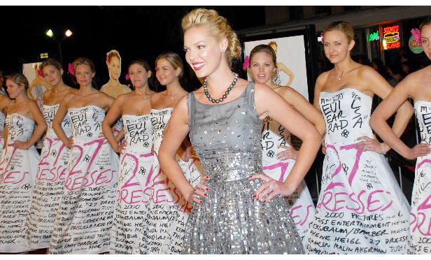 Katherine Heigl at the premiere of 27 Dresses.