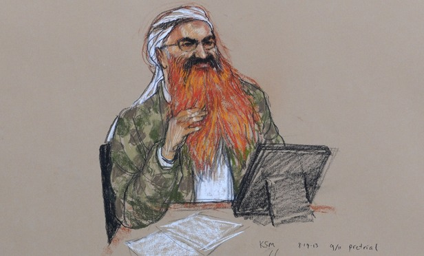 A sketch of Khalid Sheikh Mohammed.