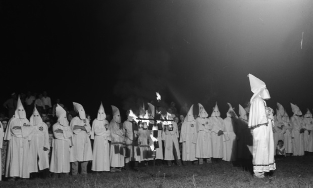 Ku Klux Klan rally in Stone Mountain in Georgia. Circa: September 23, 1948