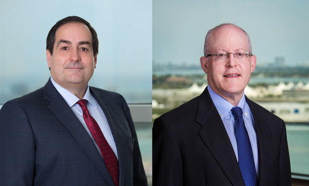 Left to right: Peter Abreu CIO and Jonathan Cohen, partner and general counsel Shutts & Bowen