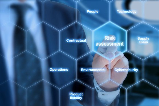 Law firm cybersecurity risk assessment conceptual image.