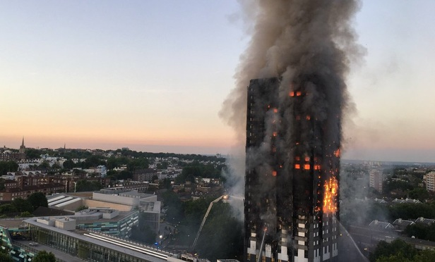 Grenfell Tower fire.