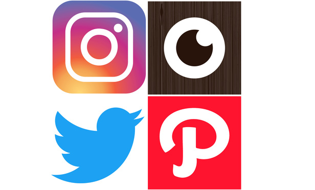 (clockwise from top left): Instagram, Foodspotting, Path, and Twitter.