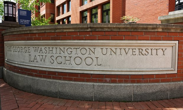 Washington DC, USA - May 2, 2015: Law school of The George Washington University is located in Washington D.C., USA.
