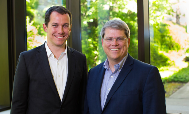 Left to right: Kimball D. Parker, founder, CO/COUNSEL and Gordon Smith, dean, BYU Law School