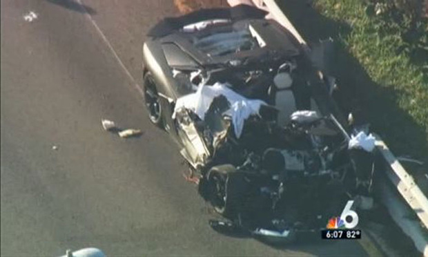 NBC 6 coverage of the Lamborghini accident on the MacArthur Causeway