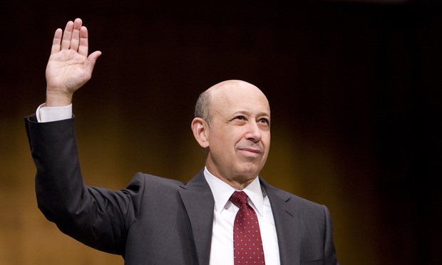 Goldman CEO Lloyd Blankfein testifies before a Senate panel in April 2010.