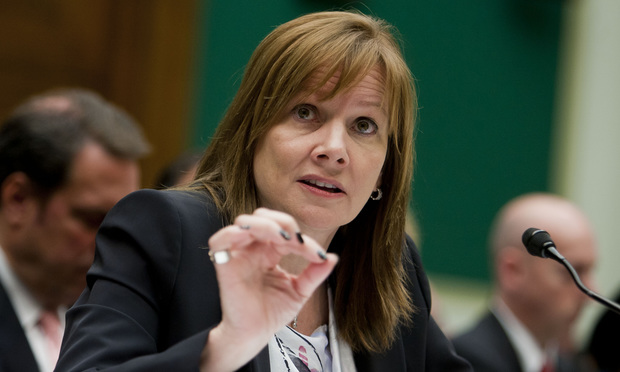 Mary Barra, Chief Executive Officer of The General Motors Company, testifies before the Energy & Commerce Committee during an Oversight & Investigations hearing looking into the GM car ignition recall. June 18, 2014.