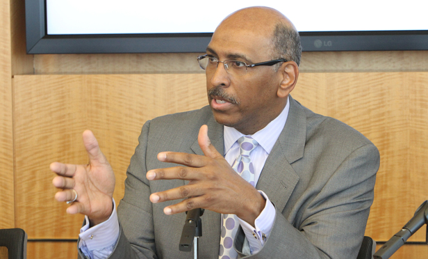Former RNC Chair Michael Steele. Photo By John Disney 1-25-2012