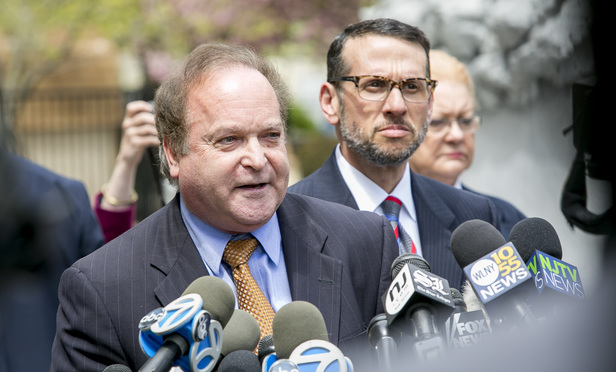 L to R- Alan Zegas and David Wildstein. David Wildstein pleads guilty in Federal Court in Newark, NJ, on May 1, 2015, in the NJ Bridgegate Scandal.