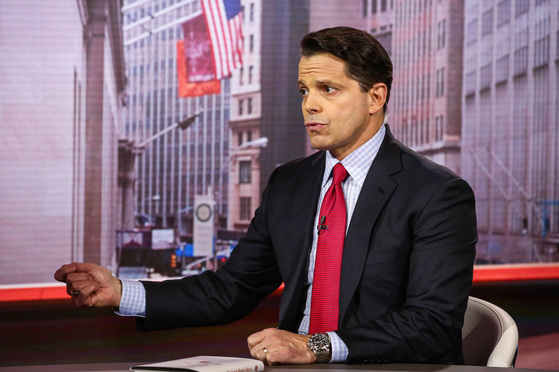 Anthony Scaramucci, founder of SkyBridge Capital II LLC, speaks during a Bloomberg Television interview in New York, U.S., on Wednesday, Oct. 26, 2016. Scaramucci, economic adviser to Republican presidential candidate Donald Trump, discussed the accuracy of polls in the U.S. presidential election and Trump's economic policy and support of free trade. Photographer: Christopher Goodney/Bloomberg