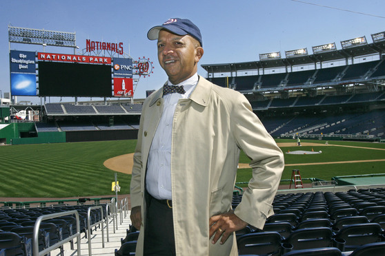 Former District of Columbia Mayor Anthony Williams tours the new Nationals Park in Washington on Thursday, March 13, 2008.