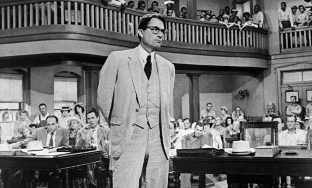 TARNISHED: Gregory Peck played Atticus Finch in the movie version of the first book.