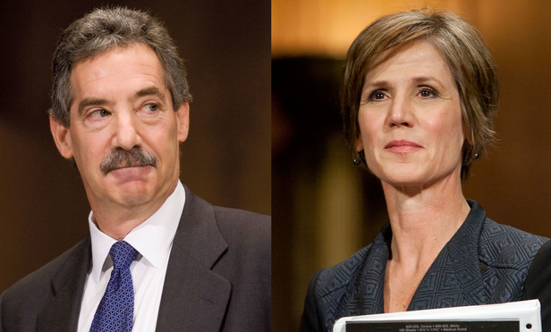 James Cole, left, and Sally Yates, right.