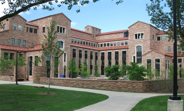 Wolf Law building at the University of Colorado at Boulder.