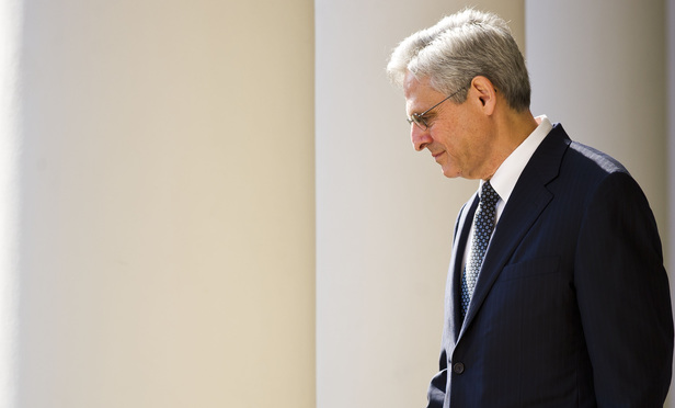 Chief Judge Merrick Garland, of the U.S. Court of Appeals for the District of Columbia Circuit, enters the Rose Garden, moments before President Barack Obama announces his nomination to the U.S. Supreme Court. March 16, 2016.