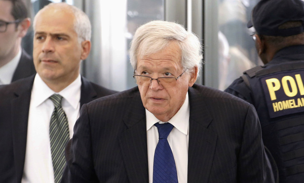 Former U.S. House Speaker Dennis Hastert arrives at the federal courthouse in Chicago for his arraignment on federal charges in his hush-money case, on June 9, 2015.