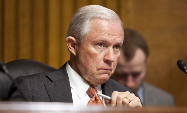 Attorney General nominee Jeff Sessions.