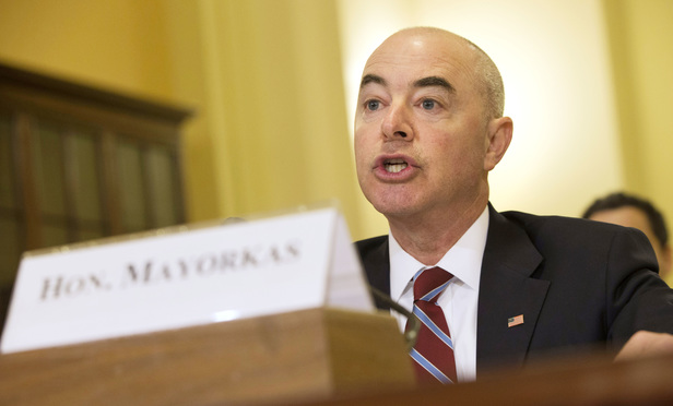 Homeland Security Deputy Secretary Alejandro Mayorkas testifies on Capitol Hill in Washington, Thursday, April 30, 2015, before a House Homeland Security Committee hearing on allegations of special access and political influence at the department.