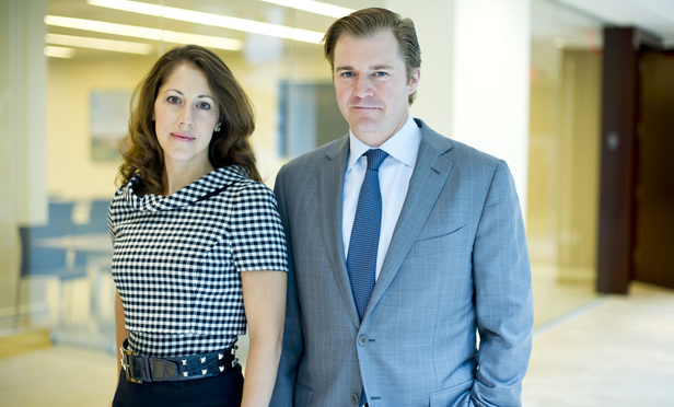 Lori Alvino McGill, partner at Quinn Emanuel Urquhart & Sullivan, left, and Matthew McGill, partner at Gibson, Dunn & Crutcher, right.