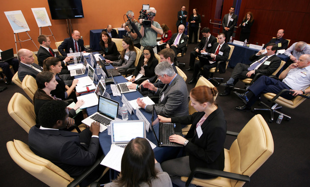 Georgetown University Law Center hosts National Security Crisis Simulation Saturday, April 6, 2013 in Washington, D.C.