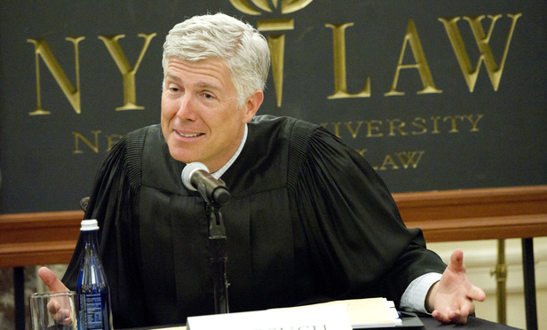 Judge Neil Gorsuch of the U.S. Court of Appeals for the Tenth Circuit.